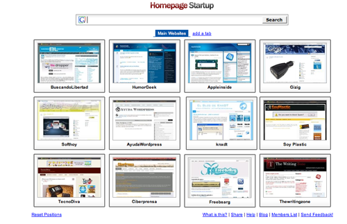 Homepage Startup