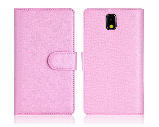 Funda billetera de cuero para Note 4